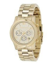 Michael Kors Runway MK5055 Women's Gold Chronograph Authentic Watch - New In Box