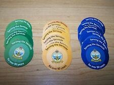 4th Spec. Issue (British) NAAFI  Pogs  SET from  2011   About Uncir. not AAFES