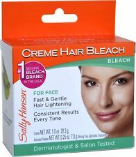 Sally Hansen Creme Hair Bleach For Face, Fast & Gentle Hair Lightening Bleach