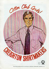 1969 Creighton Shirt Co. Cotton Club Cords Ad Not The Shirt For A Conformist