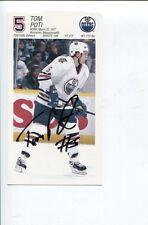 Tom Poti New York Rangers Islanders Edmonton Oilers Olympic Silver Signed Photo