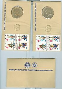 US 1565-68 Bicentennial first day cover w centennial medal US Treasury one of 5
