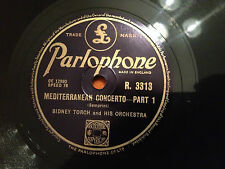 """SIDNEY TORCH & HIS ORCHESTRA """"Mediterranean Concerto"""" 78rpm 10"""" 1950 NMINT+"""
