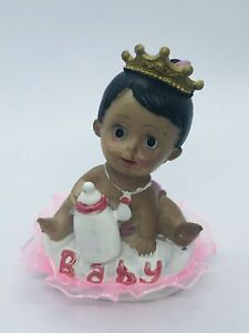 Baby Shower Favor African Ethnic Baby Cake Topper Party Decoration Girl Princess