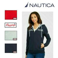 SALE Nautica Womens Signature Logo Hooded Full Zip Hoodie Sweatshirt VARIETY C33