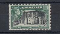 Gibraltar KGVI 1938 1/- Black Green SG127a MH Cat £75 J5082