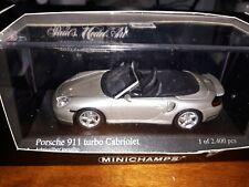 Minichamps 1/43 Porsche 911 Turbo Cabriolet 2003 silver