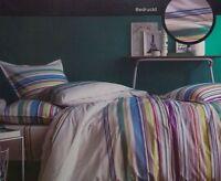 Matt&Rose Bettwäsche Set 2 teilig 135 x 200 cm gestreift bedruckt 100% Baumwolle