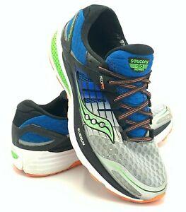Saucony Triumph ISO 2 Mens Size 8 Running Shoe Everun Blue Grey Green S20290 1