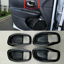 For Jeep Renegade 2015-2016 Black Car Inner Door Handle Cover Trim Frames 8pcs