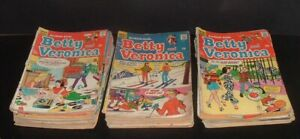 BIG LOT 53 vintage 1970s archie series BETTY AND VERONICA low grade 12&15 cent