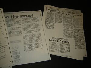 Aerial Phenomenon Clipping & Information Center UFO Aliens Newspaper Clippings