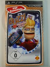 SONY PSP JUEGO Buzz Maestro Examen, usado pero BUENO