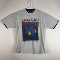 Vtg Mens XL Sanford Michigan Single Stitch T-shirt 1999 Earth No Place Like Home
