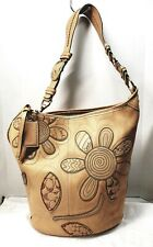 COACH BLEEKER TOOLED FLORAL NATURAL VACHETTA LEATHER XLARGE DUFFLE 11786