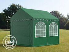 3x4m Partyzelt Festzelt XXL PROFESSIONAL 2m PVC 550g/m2 Gartenzelt dunkelgrün