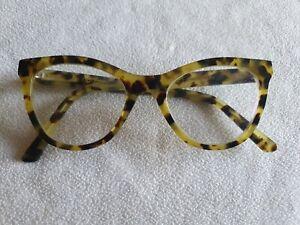 Nau brown / green cat's eye glasses frames. AT1858V.