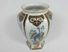Vase/ Tischvase, Pfau Blumen, BAREUTHER BAVARIA Waldsassen Porzellan
