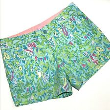 Lilly Pulitzer Callahan Shorts Womens Size 2 Hops and Pops Print Flat Front