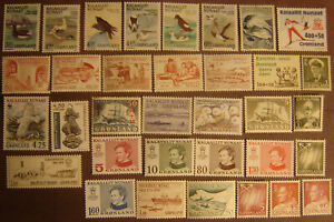Greenland 34 Different Mint Never Hinged F-VF
