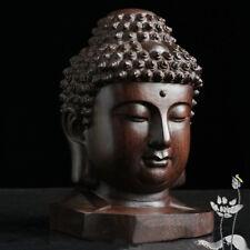 Figurine Sakyamuni Head Tathagata Sculpture Buddha Statue Redwood Crafts