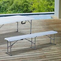 6ft Folding Camping Bench Picnic BBQ Table Outdoor Garden
