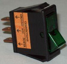 Automotive SPST On Off Green Glow Rocker Switch 40330 / SW-33 Lot Of 20 Pcs.