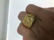 Vintage Gold Anchor Stainless Steel Size 8 Men's Ring