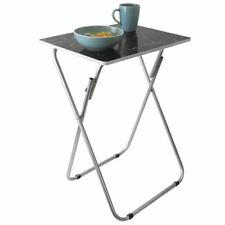 Home Basics Marble Multi-Purpose Foldable Table, Black - TT41425
