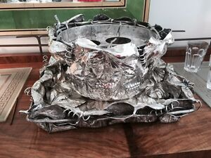 FRANCO LAGINI Vintage Silver Plate Champagne/ Wine Cooler with Large TRAY ITALY