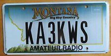 Montana 2007 AMATEUR HAM RADIO License Plate # KA3KWS