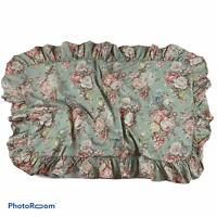 Vintage Ralph Lauren Charlotte IV Floral Sage Green KING Pillow Sham