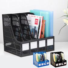 New Plastic File Shelf Rack Desktop Magazine Holders Desk Tidy Organiser 4 in 1
