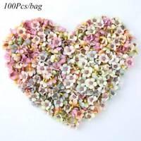 100Pcs Multicolor Mini Silk Artificial Flowers Daisy Flower Heads for Wreath DIY