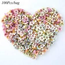 100Pcs Multicolor Mini Silk Artificial Flowers Daisy Flower Heads for DIY Wreath