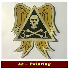 WW2 Hand Painted 31st Bomb Sqd Leather Patch For A2 G1 Flying Jacket