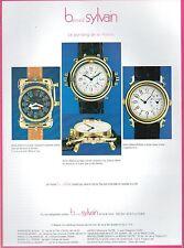 ▬► PUBLICITE ADVERTISING AD WATCH MONTRE Bernard SYLVAIN 1985