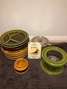 Vintage German Fondues 11 Piece Dining Set crafted by GALLO PROVINCE ITALIAN