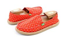 SANUK HOT DOTTY WOMENS SANDALS SIDEWALK SURFERS FLAME NATURAL DOTS SIZE 7 US