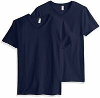 Fruit of the Loom Men's V-Neck T-Shirt (4 Pack), Charcoal,, Navy, Size X-Large 0
