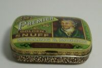 Early 1900's Premier Golden Snuff Tobacco Tin Spelling & Morris Co. Durham N.C.