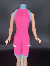 Barbie Hot Pink And Teal One Piece Jumper / Exercise Outfit / Workout Unionsuit