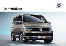 Volkswagen Vw Multivan 07 / 2017 catalogue brochure Austria German Deutsch
