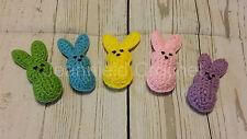 Handmade Crochet Marshmallow Easter Bunnies - Multi Color Set of 5