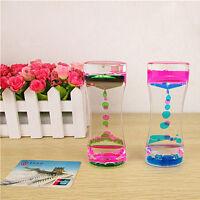 Liquid Floating Timer Desktop Motion Visual  Comfort Spiral Timer Oil Drop W7Y1.