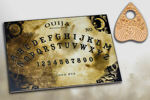 Wooden Ouija Board. Spirit Game and Planchette with Instruction. Ghost