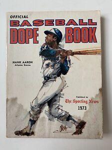 1973 Sporting News Atlanta BRAVES Hank AARON Baseball Dope Book MLB
