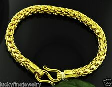 Dragon scale Bracelet 45.25 GRAM Handmade in USA 7 inches 24K 9999 Yellow Gold
