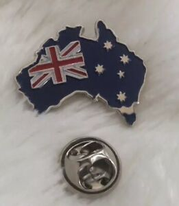 Australian Flag Map Lapel Pin Badge 26mm x 23mm AUSSIE PROUD SOUVENIR 🇦🇺 NEW