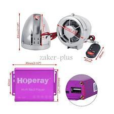 12V Motorcycle Audio Kit Anti-theft Alarm Wireless 2X LED Speaker Electric Bikes